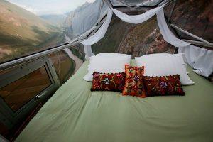 Cama en Skylodge Valle Sagrado de los Incas