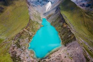 Laguna Humantay vista aérea