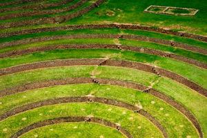 Moray terrazas de cultivo inca