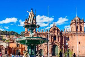 Pileta de la Plaza de Armas del Cusco