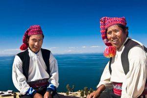 Pobladores de la Isla Taquile