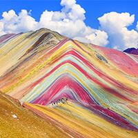 Montaña de Colores, Mountain Rainbow, Montaña de siete colores, Vinicunca Cusco Peru