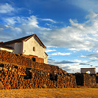 Chinchero exterior del templo, Complejo arqueologico de Chinchero, Cusco, Peru
